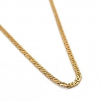 9ct Yellow Gold Birdseye Linked Chain 50cm