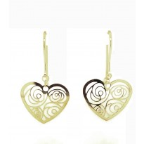 9ct Yellow Gold Shepherd Hook Earrings