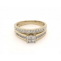 10ct Yellow Gold Bridal Set