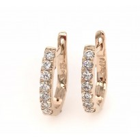 9ct Rose gold Diamond Hoop Earrings