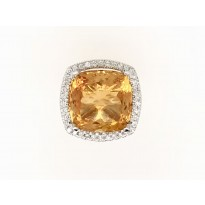 18ct Yellow and White Gold Gem Stone Ring
