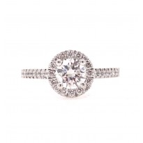 18ct White halo ring