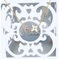 9ct Rose gold necklace with star and diamond