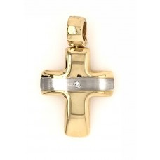 18ct 2T Diamond Cross