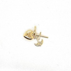 18ct Yellow Gold Faith, Hope and Charity Charm