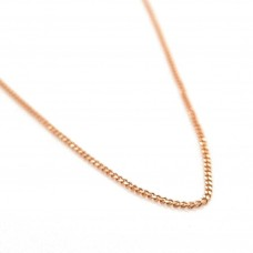 9ct Rose Gold Curby Link Chain 45cm