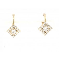 9ct Yellow Gold Swarovski Earrings