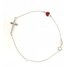 18ct White Gold Love/Faith Bracelet