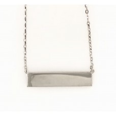 9ct White Gold ID Necklace