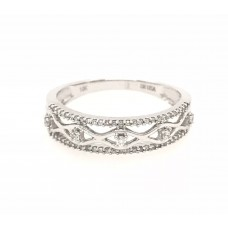 10ct White Gold Diamond Ring