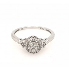 10ct White Gold Dress Ring
