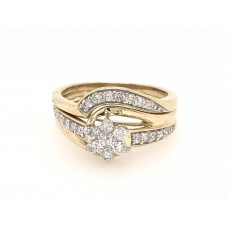 10ct Yellow Gold Diamond Bridal Set