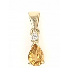 9ct Yellow Gold Gem stone Pendant