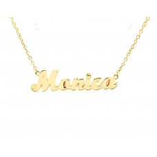 18ct Yellow Gold Name Necklace with Monica
