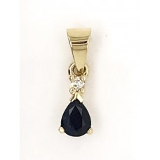 9ct Yellow Gold Gem Stones Pendant