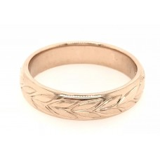 18ct Rose Gold Gents Wedding Band