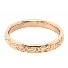 18ct Rose Gold Ladies Wedding Band