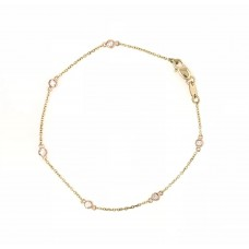 18ct Yellow and Rose Gold Diamond Bracelet