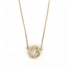 9ct Yellow Gold Diamond Necklace