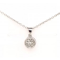 9ct White Gold Diamiond Pendant