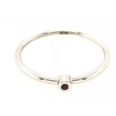 9ct White Gold Birthstone Ring