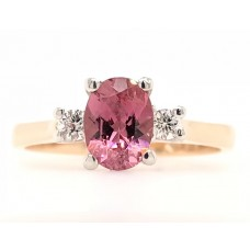 9ct Rose and White Gold Gem Stone Ring