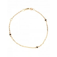 9ct Yellow Gold Gem Stone  Bracelet