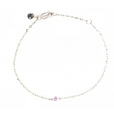 9ct White Gold Gem Stone  Bracelet