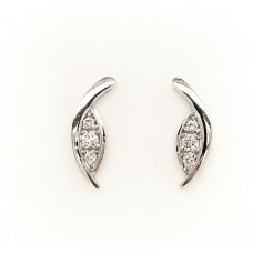 9ct White Gold Diamond Stud