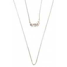9ct White Gold Belcha Chain