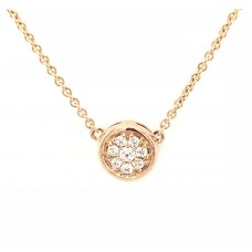18ct Rose God Diamond Necklace