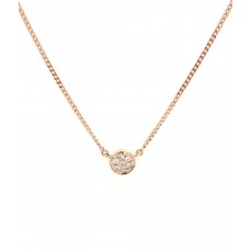 9ct Rose Gold Diamond Necklace