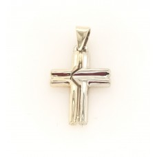 9ct Yellow and white gold Cross
