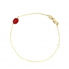 9ct Yellow gold Coral bracelet