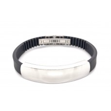 S/Steel and Rubber ID bracelet